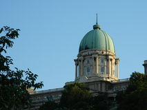 Buda  Castle dome in Budapest. This is the main dome of the Buda castle in Budapest at sundown Royalty Free Stock Photo