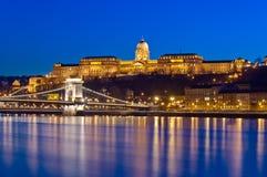 Buda Castle e ponte a catena, Budapest, Ungheria Fotografia Stock