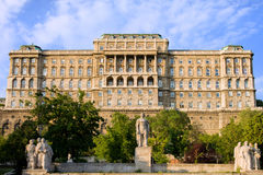 Buda Castle Facade in Budapest. Buda Castle (Royal Palace) rear view, 18th century Baroque style facade in Budapest, Hungary royalty free stock photo