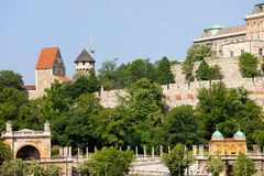Buda Castle Fortification in Budapest Royalty Free Stock Photo