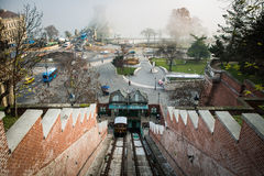 Buda Castle Funicular. Budapest, Hungary stock photos