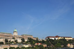 Buda castle on hill Budapest Royalty Free Stock Photography