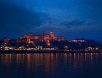Buda Castle. On Castle Hill, Budapest, Hungary Royalty Free Stock Photography