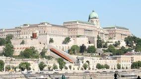 Buda castle historic landmark stock footage