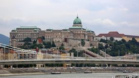 Buda Castle. Historic Royal Buda Palace at Castle Hill in Budapest stock photo