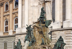Buda castle Matthias fountain Budapest Stock Image