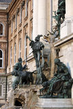 Buda castle Matthias fountain Royalty Free Stock Images