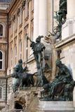 Buda castle Matthias fountain Royalty Free Stock Images