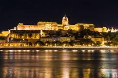 Buda Castle natt, Budapest Arkivbilder