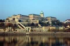 Buda Castle Near Body of Water Under Blue Sky during Daytime Stock Photo