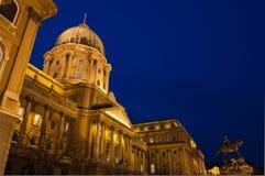 Buda Castle nella sera, Budapest, Ungheria Fotografia Stock Libera da Diritti