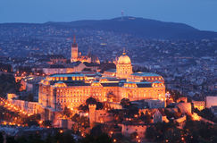 Buda Castle by night - Budapest, Hungary Stock Photo