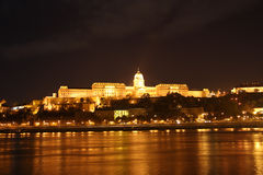 Buda Castle by night (Budapest, Hungary) Stock Photos