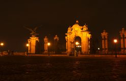 Buda Castle. At night in Budapest, Hungary royalty free stock photo