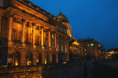 Buda Castle at night, Budapest Royalty Free Stock Images