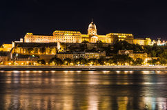 Buda Castle night, Budapest Stock Images