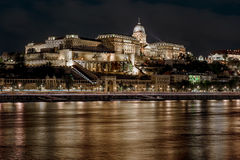 Buda Castle at night Royalty Free Stock Image