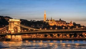 Buda Castle och Donauen