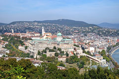 Buda Castle palace complex of the Hungarian kings in Budapest. View from Gellert Hill of Buda Castle is the historical castle and palace complex of the Hungarian stock photos