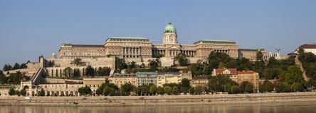 Buda Castle Panorama Arkivfoto