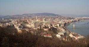 Buda Castle Panorama Fotos de archivo