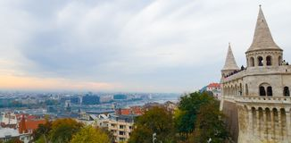 Buda Castle. This picture illustrates a cityscape from the Buda Castle at Budapest, Hungary. It was taken by Victoria Szocs in October 2018 royalty free stock images