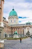 Buda Castle, prince Eugene de statue de la Savoie Photos libres de droits