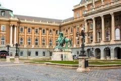Buda Castle, principe Eugene della statua della Savoia Fotografia Stock Libera da Diritti