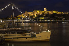Buda Castle and the River Danube in Budapest Royalty Free Stock Images