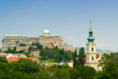 Buda Castle and Royal Palace Stock Photos