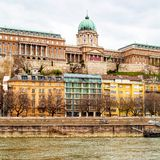 Buda Castle or Royal Palace in Budapest, Hungary Stock Images