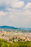 Buda Castle Royal Palace on Castle Hill, Budapest, Hungary. View from Gellert Hill, beautiful cityscape stock photography