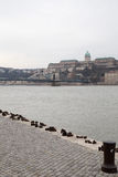 Buda Castle and Shoes Royalty Free Stock Image