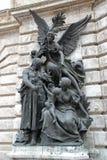 Buda Castle staty i Budapest Fotografering för Bildbyråer