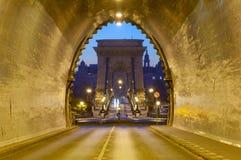 Buda Castle Tunnel, Budapest Fotografia Stock Libera da Diritti