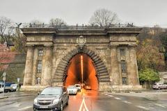 Buda Castle Tunnel - Budapest, Ungheria fotografie stock libere da diritti