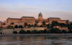 Buda Castle van Boedapest stock foto
