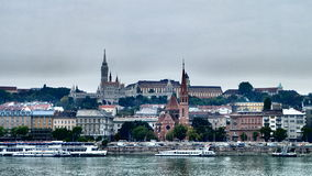 Buda castle view across Danube. Buda castle seen from another side-PEST Royalty Free Stock Photography