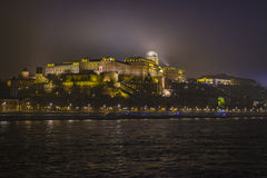 Buda castle. A view on Buda castle from Dunabe river royalty free stock photo