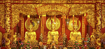 Buda chinesa do templo Imagens de Stock Royalty Free