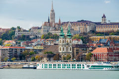 Buda cityscape arkivfoto
