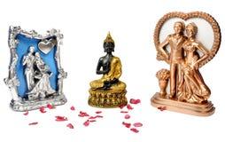 Buda com presente dos pares imagem de stock