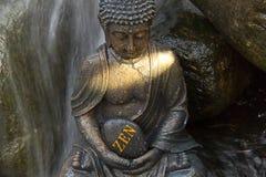 """Buda con el  del """"ZEN†de la palabra Imágenes de archivo libres de regalías"""
