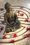 Buda con el zen de la palabra Imagen de archivo
