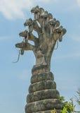 Buda con imagen de dios de serpiente Fotografía de archivo libre de regalías