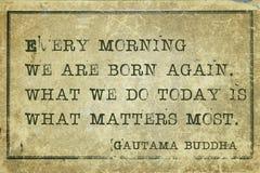 Buda da manhã imagem de stock royalty free