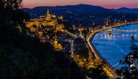 Buda dalla collina di Gellert - Budapest - Ungheria fotografia stock libera da diritti