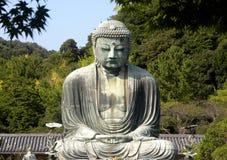 Buda de assento de bronze Fotos de Stock
