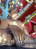 Buda de assento no templo Foto de Stock Royalty Free