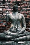 Buda de Ayuddhaya imagem de stock royalty free
